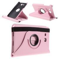 Circ PU kožené otočné puzdro pre Samsung Galaxy Tab A 7.0 - ružové