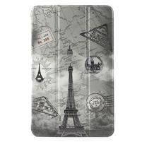 Leathy PU kožený obal na tablet Samsung Galaxy Tab E 9.6 - Eiffélova veža