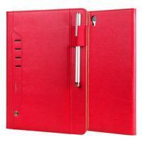 LuxyStand PU kožené puzdro na tablet Samsung Galaxy Tab S3 9.7 - červené