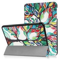 Emotive PU kožené polohovatelné puzdro pre Samsung Galaxy Tab S3 9.7 T820 - maľovaný strom