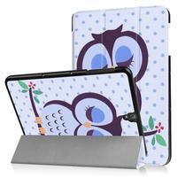 Emotive PU kožené polohovatelné puzdro pre Samsung Galaxy Tab S3 9.7 T820 - sova