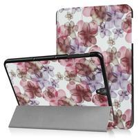 Emotive PU kožené polohovatelné puzdro pre Samsung Galaxy Tab S3 9.7 T820 - kvetiny