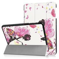Emotive PU kožené polohovatelné puzdro pre Samsung Galaxy Tab S3 9.7 T820 - motýľí víla
