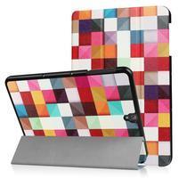 Emotive PU kožené polohovatelné puzdro pre Samsung Galaxy Tab S3 9.7 T820 - barevné kostky