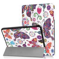 Emotive PU kožené polohovatelné puzdro pre Samsung Galaxy Tab S3 9.7 T820 - motýľci