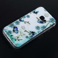Patty gélový obal na mobil Samsung Galaxy Xcover 4 - motýle na kvetoch