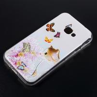 Patty gélový obal na mobil Samsung Galaxy Xcover 4 - motýle s mačičkou