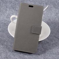 Cross PU kožené klopové puzdro na Samsung Galaxy Xcover 4 - sivé