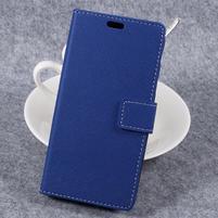 Cross PU kožené klopové puzdro na Samsung Galaxy Xcover 4 - modré