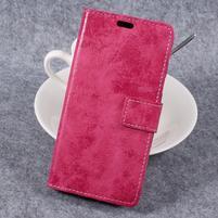 Vintage PU kožené puzdro na mobil Samsung Galaxy Xcover 4 - rose