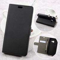 Knižkové PU kožené puzdro na Samsung Galaxy Xcover 4 - čierne