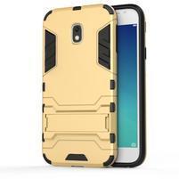 Defender odolný obal pre mobil Samsung Galaxy J3 (2017) - zlatý