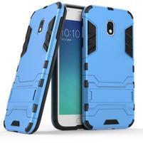 Defender odolný obal pre mobil Samsung Galaxy J3 (2017) - svetlomodrý