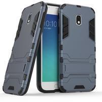 Defender odolný obal pre mobil Samsung Galaxy J3 (2017) - šedomodrý