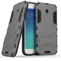 Defender odolný obal pre mobil Samsung Galaxy J3 (2017) - sivý