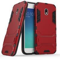Defender odolný obal pre mobil Samsung Galaxy J3 (2017) - červený
