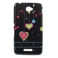 Gélový obal pre Sony Xperia E4 - srdce