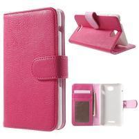 Koženkové pouzdro pro Sony Xperia E4 - rose