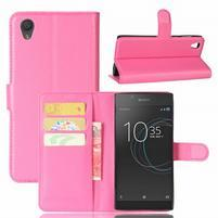 Gaines PU kožené puzdro pre Sony Xperia L1 - rose