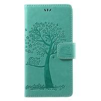 Tree knižkové zapínacie puzdro na Sony Xperia L1 - cyan