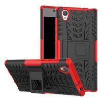 Outdoor odolný obal na Sony Xperia L1 - červený