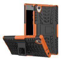 Outdoor odolný obal na Sony Xperia L1 - oranžový