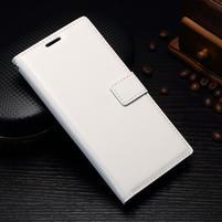 Grain PU kožené knižkové puzdro na Sony Xperia L1 - biele