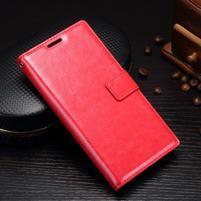 Grain PU kožené knižkové puzdro na Sony Xperia L1 - červené
