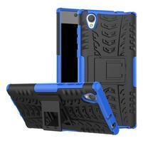 Outdoor odolný obal na Sony Xperia L1 - modrý