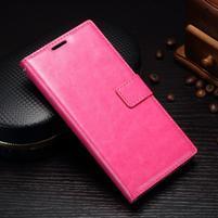 Grain PU kožené knižkové puzdro na Sony Xperia L1 - rose