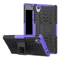 Outdoor odolný obal na Sony Xperia L1 - fialový