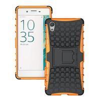 Outdoor odolný obal na Sony Xperia X - oranžový