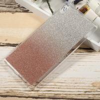 Glitter gélový obal na Sony Xperia XA Ultra - rosegld
