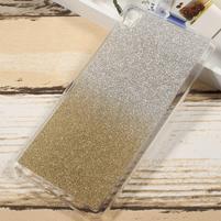 Glitter gélový obal na Sony Xperia XA Ultra - zlatý