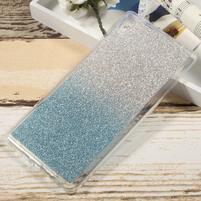 Glitter gélový obal na Sony Xperia XA Ultra - modrý