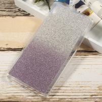 Glitter gélový obal na Sony Xperia XA Ultra - fialový