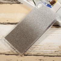 Glitter gélový obal na Sony Xperia XA Ultra - sivý