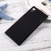 Matný gélový obal pre mobil Sony Xperia XA1 - čierny
