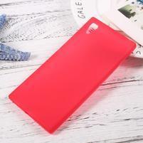 Matný gélový obal pre mobil Sony Xperia XA1 - červený