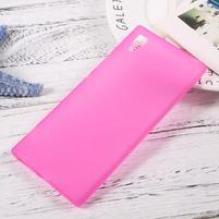 Matný gélový obal pre mobil Sony Xperia XA1 - rose