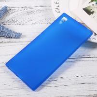Matný gélový obal pre mobil Sony Xperia XA1 - modrý