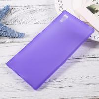 Matný gélový obal pre mobil Sony Xperia XA1 - fialový