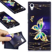 Matty gélový obal na Sony Xperia XA1 - zlatý motýľ