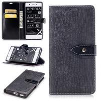 CrocoStyle PU kožené puzdro na Sony Xperia XA1 - sivé