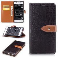 CrocoStyle PU kožené puzdro na Sony Xperia XA1 - hnedé