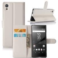 Graines peňaženkové puzdro pre mobil Sony Xperia XA1 - biele