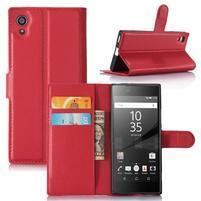 Graines peňaženkové puzdro pre mobil Sony Xperia XA1 - červené