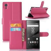 Graines peňaženkové puzdro pre mobil Sony Xperia XA1 - rose
