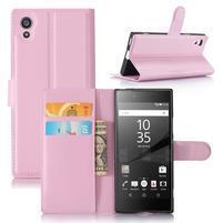 Graines peňaženkové puzdro pre mobil Sony Xperia XA1 - ružové
