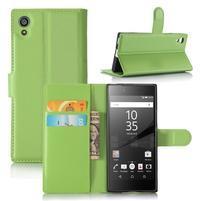 Graines peňaženkové puzdro pre mobil Sony Xperia XA1 - zelené